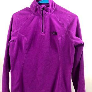 The North Face Long Sleeve Purple 1/4 Zip Fleece